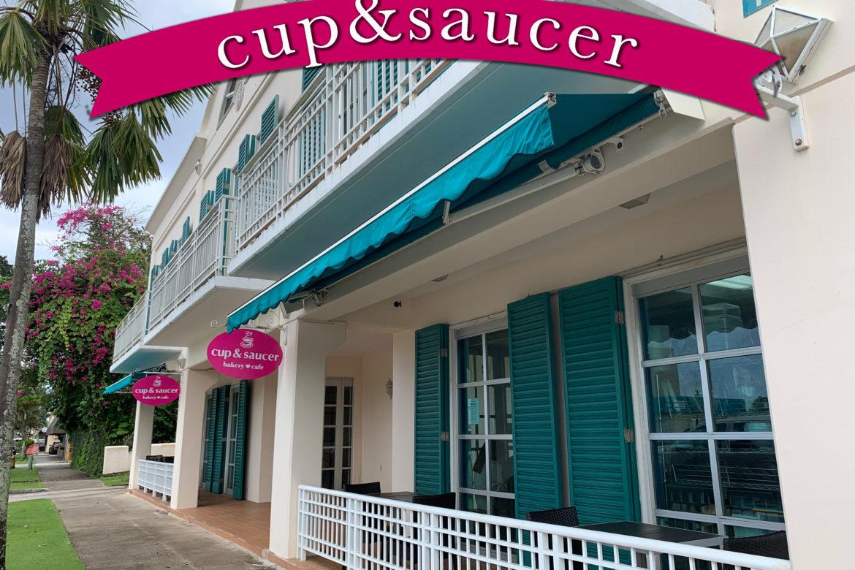 ピンクの看板がインスタ映え♡AKBのロケ地にも使われた「Cup & Saucer」
