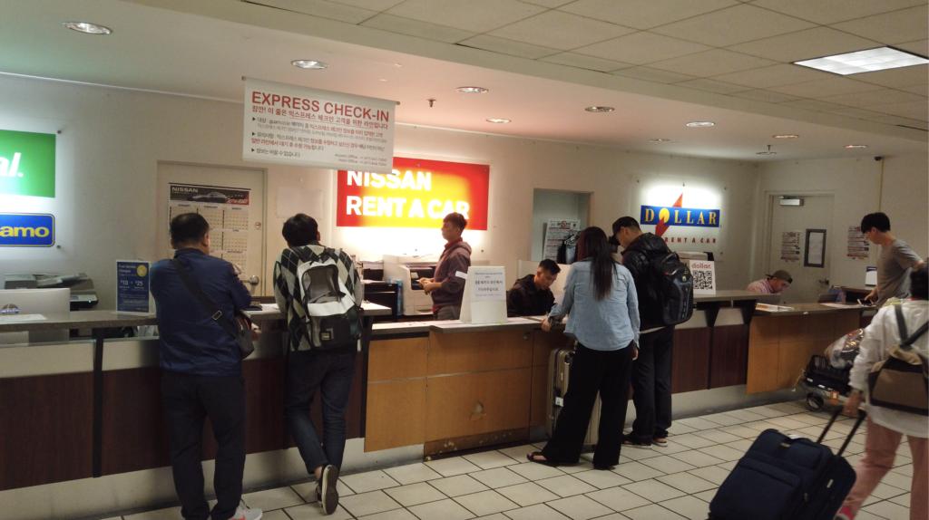 空港24時間営業 グアム空港レンタカー 日産レンタカー